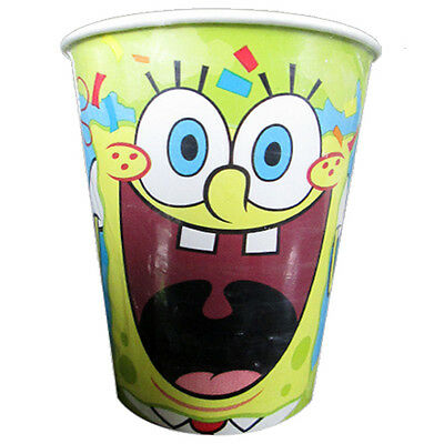 9 Oz Paper Cups (SPONGEBOB SQUAREPANTS Confetti 9oz PAPER CUPS (8) ~ Birthday Party Supplies)
