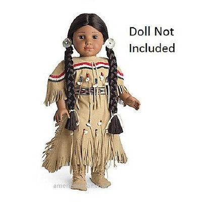 American Girl KAYA ADORNED DEERSKIN OUTFIT Dress for Dolls Native Indian NEW