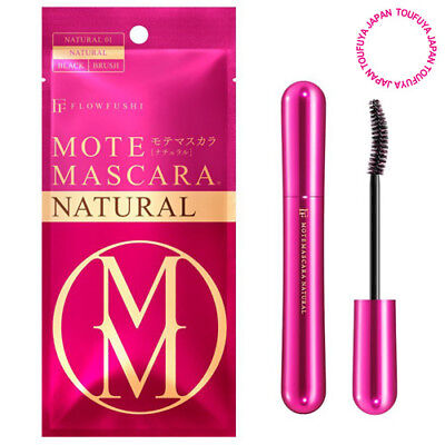 New Flowfushi Mote Mascara Fiber Lengthening Even Natural Looking Long Black