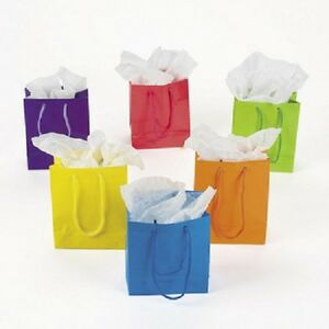Lot-of-12-Small-Bright-Neon-Color-Paper-Gift-Party-Bags