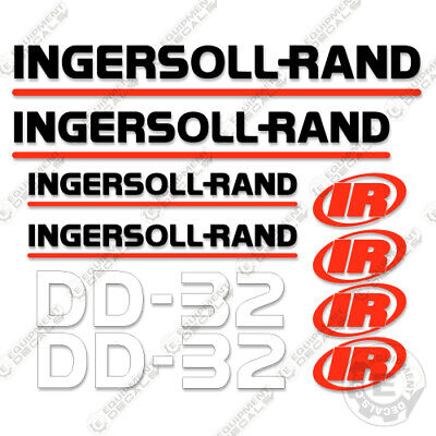 Ingersoll Rand Dd-32 Decal Kit Asphalt Compactor Replacement Stickers Dd32