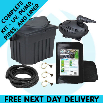 Filter Box Premium Kit 6,000 Complete Pond Kit Water Feature
