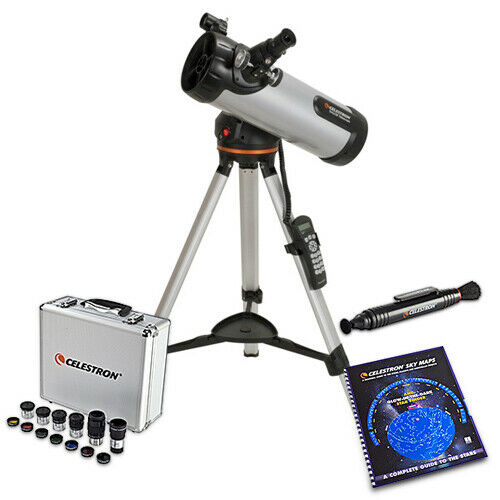 Celestron 31150 4.5-inch Refractor Telescope W/ Motorized Altazimuth Mount