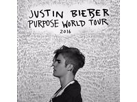 Justin Bieber Tickets for London O2 Arena - 15 October 2016‎