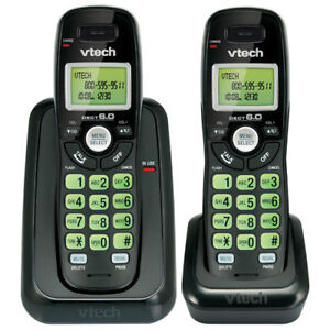 Vtech Black Two Handset Cordless Phone With Caller ID