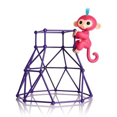 Purple Monkey Interactive Baby Playset Fingerlings Gym Jungle Climbing Stand Toy