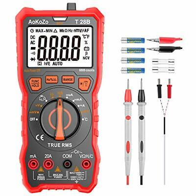 Multimetre Digital Profesional,AoKoZo T28B Automático Polimetro Digital 6000