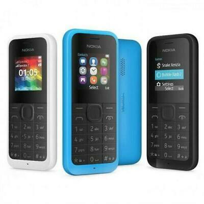 Nokia 105 Black Blue Dual Sim Sim Free Unlocked Cheap Basic Mobile Phone