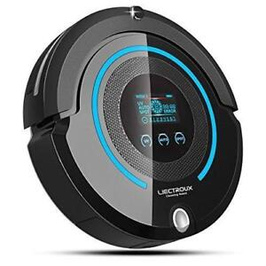 Liectroux Robotic Vacuum Cleaner Multifunction(Sweep, Mop, Vacuum, Sterilization), LCD Touch Screen, Auto Charge, Schedu
