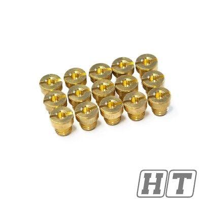 Hauptdüsen Set 15 Stk. 60 130 M6 für 12 17,5mm bis 30mm Dell Orto Vergaser
