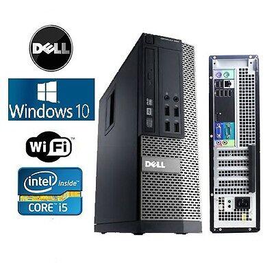 Dell Optiplex 990/790 SFF Windows 10 Home Core I5 DVD 3.4GHz 4GB WiFI ready