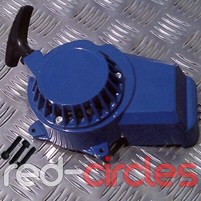 BLUE 49cc METAL COG MINI MOTO MINIMOTO DIRT BIKE PULL START CORD PULLSTART