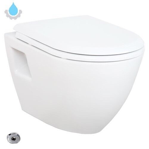 Hänge Dusch WC Taharet Bidet Funktion Toilette Turkey mit Schlauch & Deckel NEU