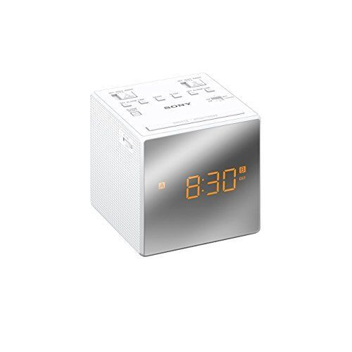Sony ICFC1TW.CEK FM/AM Clock Radio with Duo Alarm and Snoozing Function in White
