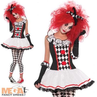 Harlequin Honey Ladies Halloween Fancy Dress Circus Womens Jester Adult Costume - Halloween Harlequin Honey Costume