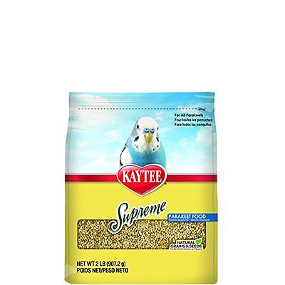 Kaytee Supreme Bird Food for Parakeets, 2-lb bag