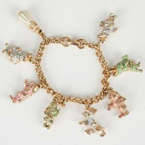 Sterling Disney Charm Bracelet