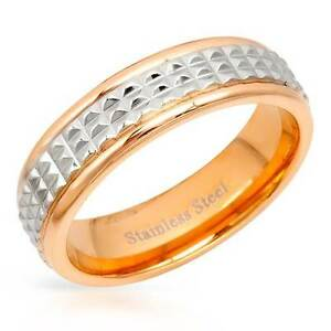 BRAND NEW SIZE 9 UNISEX TWO TONE STAINLESS STEEL BAND