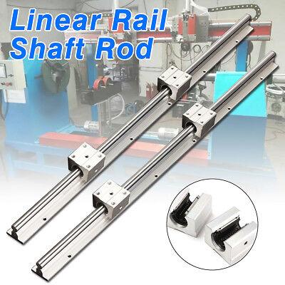2pcs Sbr12 600mm 12mm Support Linear Rail Shaft Rod 4pcs Sbr12uu Block Cnc Set