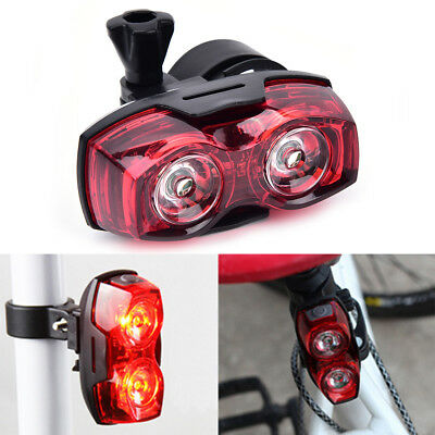 2HVD bright cycling bicycle bike safety rear tail flashing back light lamp HV
