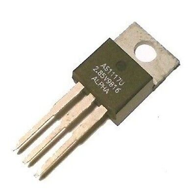 Lot Of 3 Voltage Regulator 2.85v 800ma To-220 As1117u2.85