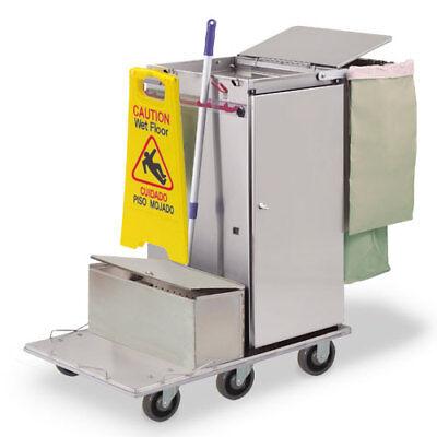 Royce Rolls F36-lst1e Stainless Steel Mini-size Microfiber Housekeeping Cart