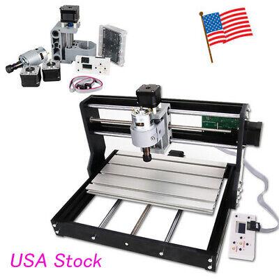 Usa Cnc Router Mini Laser Engraver Diy Wood Milling Drill Carving Machine Kit