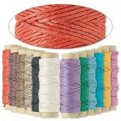 (348' 3-Ply .5mm Thin Polished Hemp Cord String 12 Spools Assorted Mixed Colors)