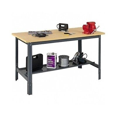 Edsal Adjustable Workbench (Shop Workbench Industrial Commercial Work Bench Table Adjust Height Wood Steel )