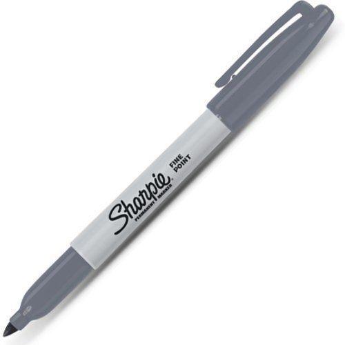 Sharpie Permanent Grey Marker Fine Pt Tip 1768783 New