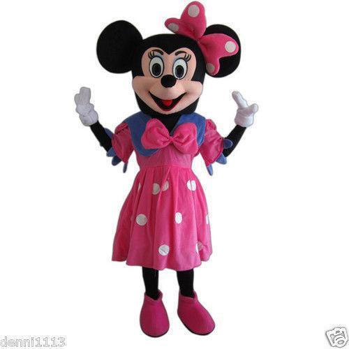minnie mouse mascot costume ebay. Black Bedroom Furniture Sets. Home Design Ideas