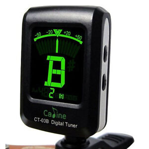 Digital LCD Clip On Electronic Acoustic Guitar Tuner Fast Shipping