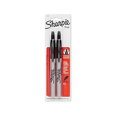 Sharpie Rt Retractable Mparker Fine Point 2-pack Black 32724pp