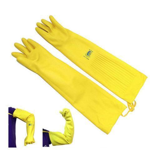 Long Rubber Gloves Ebay