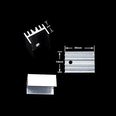 10pcs To-220 Silver Heatsink Heat Sink For Voltage Regulator Or Mosfet
