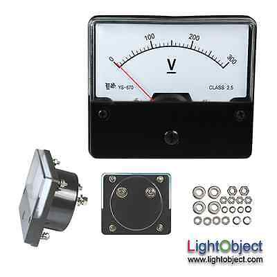 Dc 0-300v Analog Panel Volt Meter