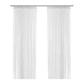 "Two pairs of White IKEA ""LILL"" net curtains (4 in total) Brand new unopened! £10!"