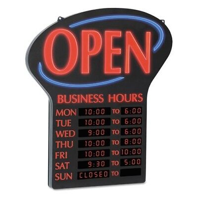 Newon LED Open Sign With Digital Business Hours Coffee Shop Restaurant