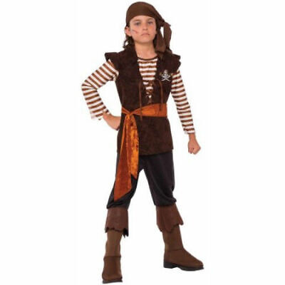 Pirate Dress Up For Boys (Boys Halloween Costume Buccaneer Pirate Mate Rogue M (8-10) Dress up)