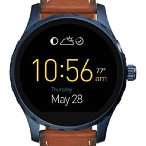 Fossil Q Marshal Gen2 Smoked Steel Bracelet Smart Watch Rrp£279.95