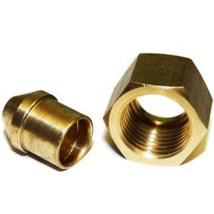 1x Solder Nut Gland Solder Nipple Copper Petrol Fuel Pipe 1/4