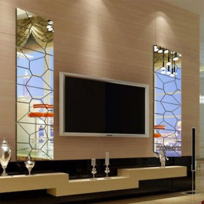 18cm 7Pcs 3D Acrylic Modern Mirror Decal Art Mural Wall Sticker Home Decor  30