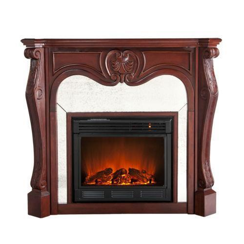 cherry electric fireplace ebay