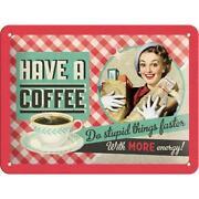 Blechschild Coffee