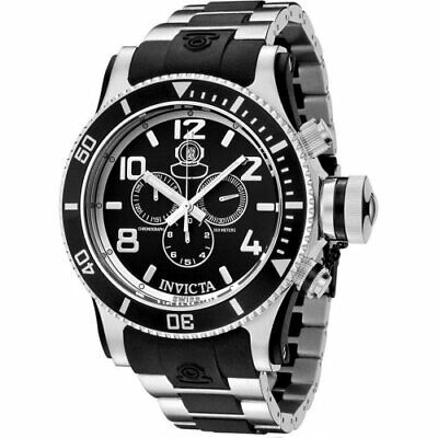 Invicta Men's 6631 Russian Diver Chronograph Stainless Steel Black Watch