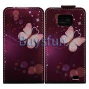 Samsung Galaxy S2 Leather Flip Case Purple