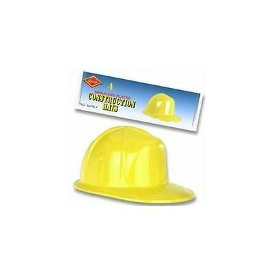Construction Worker Hat Helmet Plastic Costume Adult Child Halloween Yellow NEW - Construction Hat Kids