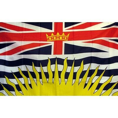 British Columbia Flag Banner Sign 3' x 5' Foot Polyester Grommets