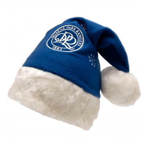 Official Licensed Football Product Queens Park Rangers Santa Hat Christmas Gift