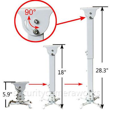 Projector Ceiling Mount Extendable Tilt Swivel DLP LCD Bracket 44lbs - White OY